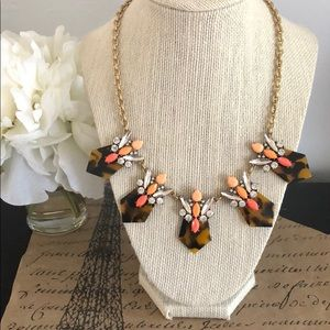 J. Crew Tortoise and Orange Necklace
